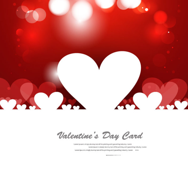 Elegant Valentine's Day Card Template Vector 07