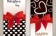 Exquisite Vertical Valentine's Day Card Vector