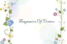 Flower and Vine Vector Border Design 02