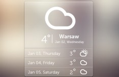 Free Semi-Transparent Weather Widget PSD