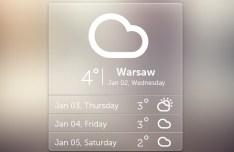 Free Semi-Transparent Weather Widget PSD