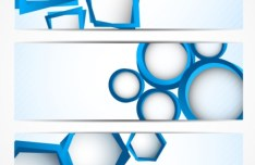 Geometric Shapes Vector Banner