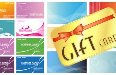 Gift Card Background Template Vector