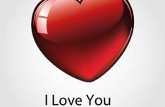 Glossy Heart Shaped Vector Clip Art