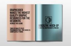 Glossy Magazine Mock-Up PSD