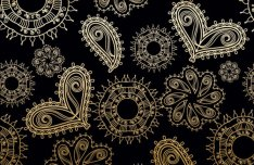 Golden Heart-shaped Pattern Background 2