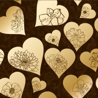 Golden Heart-shaped Pattern Background 3
