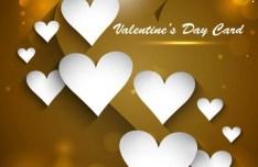 Golden Valentine's Day Heart Card