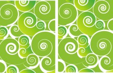 Green Abstract Swirls Background