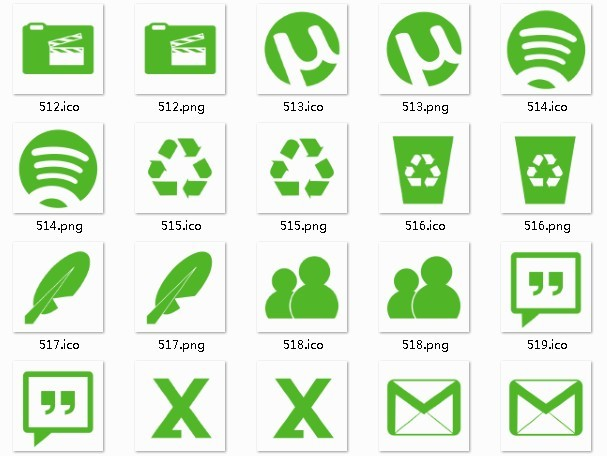 Green System Icons