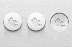 Grey Twitter UI Buttons