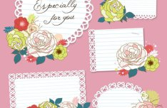 Hand Painted Flowers Card 03