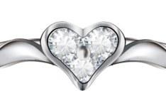 Heart-Shaped Diamond Ring Vector