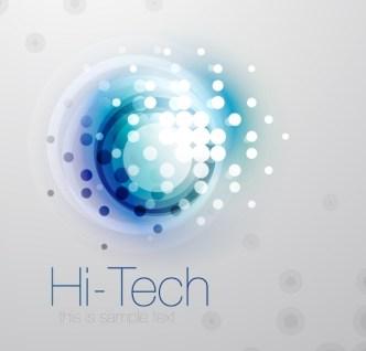 Hi-Tech Futuristic Vector Background 01