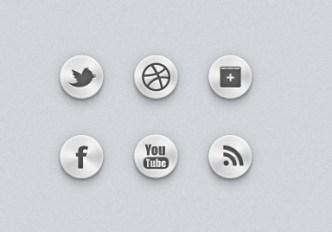 Metal Texture Social Icons