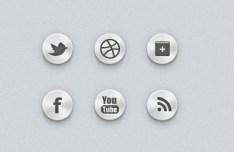 Metal Texture Social Icons