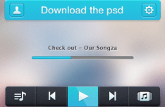 Music Player UI Elements