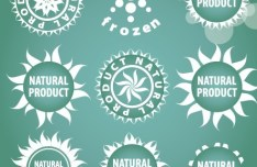 Natural Product Badges Vector