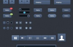 Navy Blue Web UI Kit