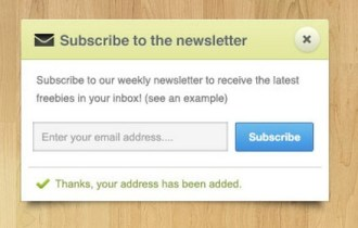 Newsletter Subscribe Box PSD