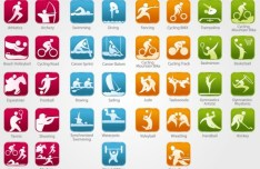 Olympic Sports Icons Vector