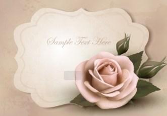Pink Rose Valentine's Day Card 02