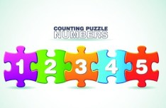 Puzzles Number Web UI Vector 02