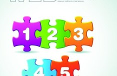 Puzzles Number Web UI Vector 03