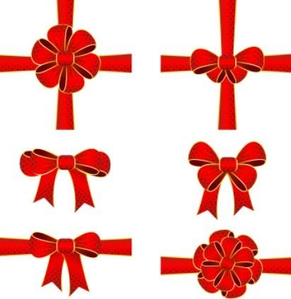 Red Rosette Vector Design Material 01