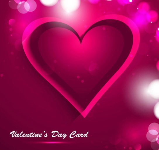 Red Valentine's Day Heart Card