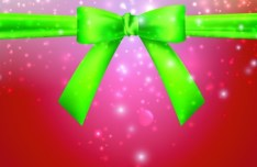 Red Vector Cover with Green Bow