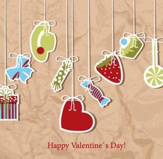 Retro Valentine's Day Vector Lables 03