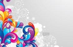 Retro Vector Color Swirls 02