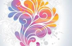 Retro Vector Color Swirls 05