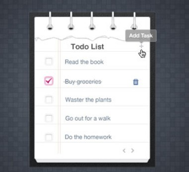 Ripped Todo List PSD