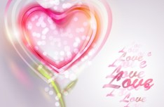Romantic Valentine's Day Background with Pink Hearts 02