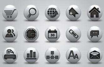 Round Gray Web icons