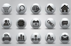 Round Gray Web icons