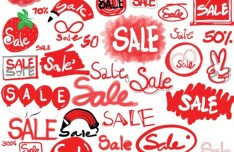 Sale Hand Drawn Doodle Vector Material