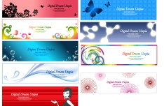 Set Of Beautiful Vector Banners