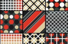 Set of Classic Vector Background with Geometric Patterns