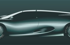 Silver Racing Car Vector