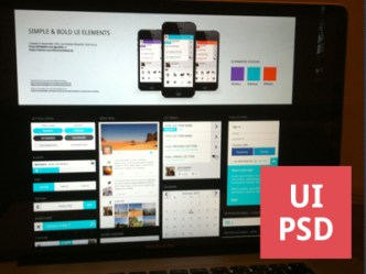 Simple Bold UI Elements PSD