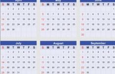 Simple Vector Calendar 2013