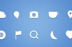 Simple White Web Icons
