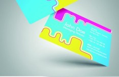 Stylish Color Business Cards 01