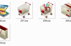 Three-dimensional Online Shopping Icons
