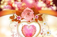 Valentine Day Love Flower 03