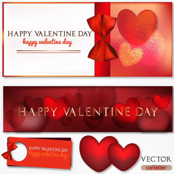 Valentine's Day Elements Vector