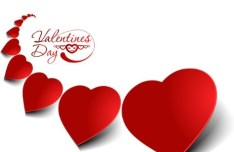 Valentine's Day Paper-cut Design Vector 01